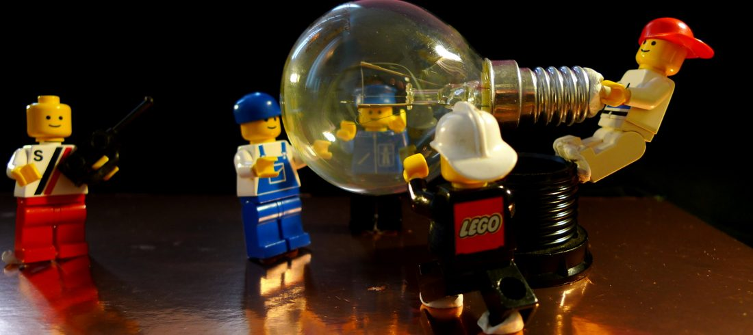 How many LEGO figures does it take to screw in a light bulb? Wait…where's the socket?