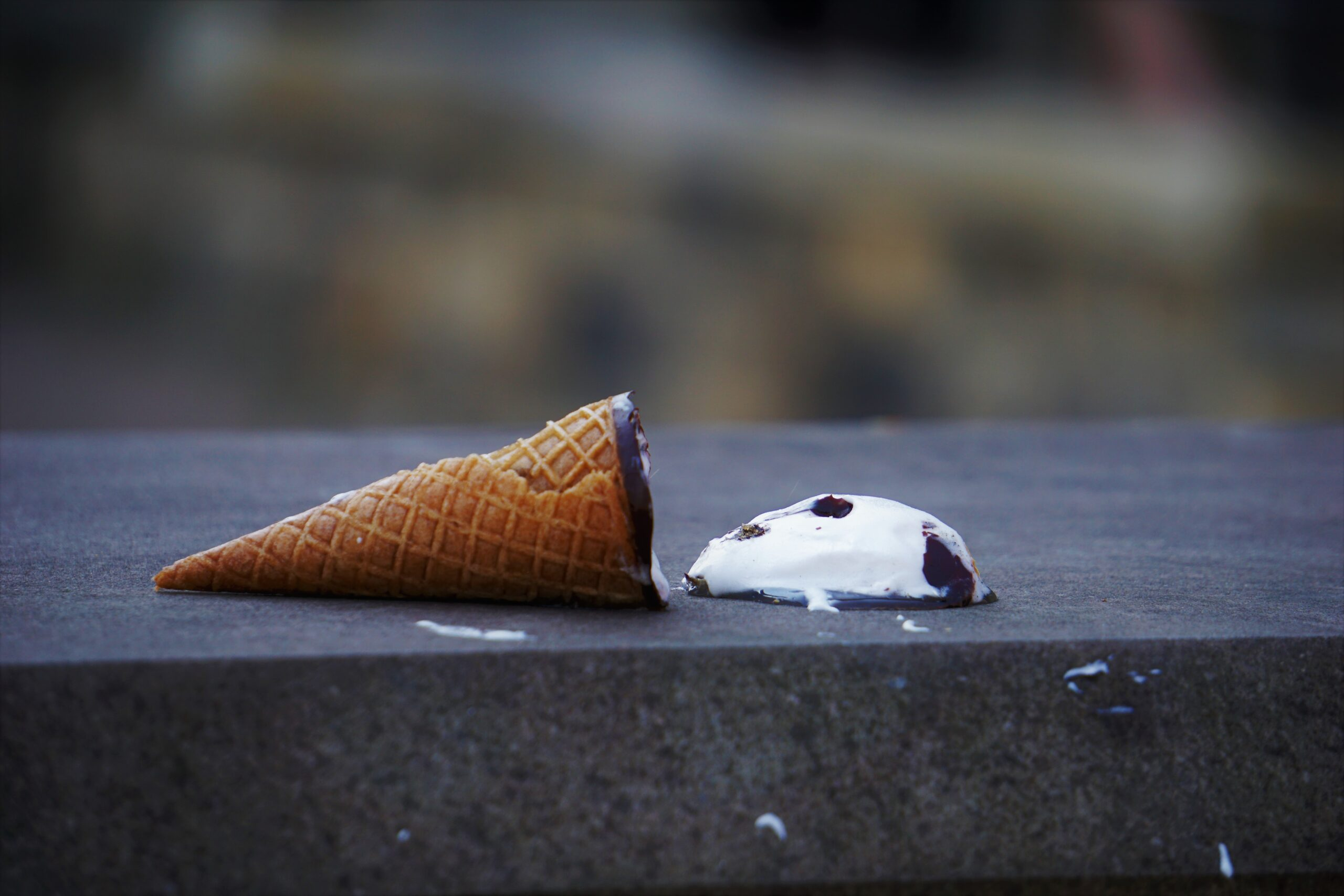 Is any disappointment worse than the disappointment of dropping an ice-cream cone on the sidewalk?